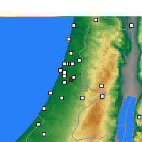 Nearby Forecast Locations - Ramla - Map