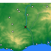 Nearby Forecast Locations - Mertola - Map