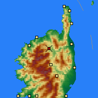 Nearby Forecast Locations - Castifao - Map