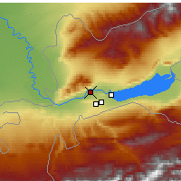 Nearby Forecast Locations - Khujand - Map