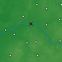 Nearby Forecast Locations - Zawisty Podleśne - Map