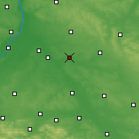 Nearby Forecast Locations - Żuk Stary - Map
