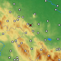Nearby Forecast Locations - Bielawa - Map