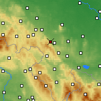 Nearby Forecast Locations - Dzierżoniów - Map