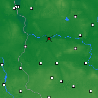 Nearby Forecast Locations - Krosno Odrzańskie - Map