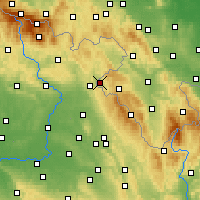 Nearby Forecast Locations - Kudowa-Zdrój - Map