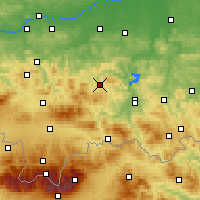 Nearby Forecast Locations - Limanowa - Map