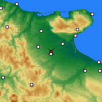 Nearby Forecast Locations - Foggia - Map