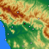 Nearby Forecast Locations - Pistoia - Map