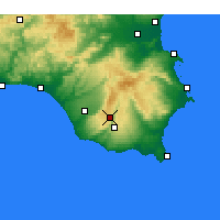 Nearby Forecast Locations - Ragusa - Map