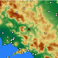 Nearby Forecast Locations - Benevento - Map