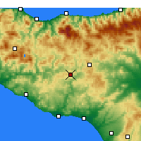 Nearby Forecast Locations - Caltanissetta - Map