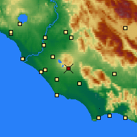 Nearby Forecast Locations - Velletri - Map