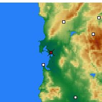 Nearby Forecast Locations - Oristano - Map