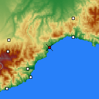 Nearby Forecast Locations - Savona - Map