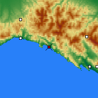Nearby Forecast Locations - Chiavari - Map