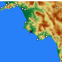 Nearby Forecast Locations - Casal Velino - Map