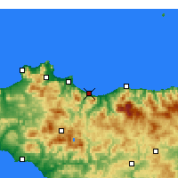 Nearby Forecast Locations - Termini Imerese - Map