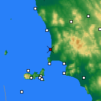 Nearby Forecast Locations - San Vincenzo - Map