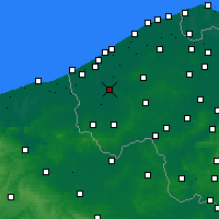 Nearby Forecast Locations - Diksmuide - Map