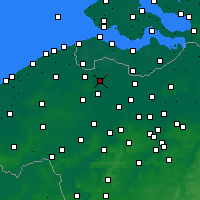 Nearby Forecast Locations - Eeklo - Map