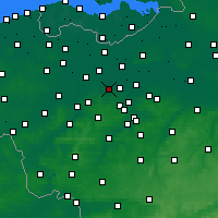Nearby Forecast Locations - Wetteren - Map