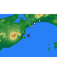 Nearby Forecast Locations - Punta Chame - Map