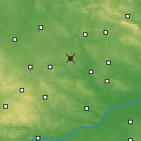 Nearby Forecast Locations - Jędrzejów - Map