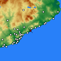 Nearby Forecast Locations - Mataró - Map