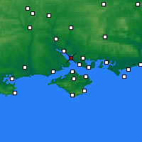 Nearby Forecast Locations - Hamble-le-Rice - Map