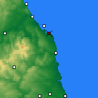 Nearby Forecast Locations - Bamburgh - Map
