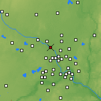 Nearby Forecast Locations - Anoka - Map