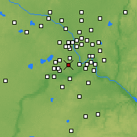 Nearby Forecast Locations - Edina - Map