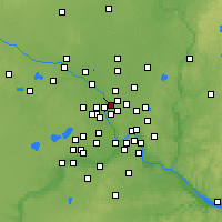 Nearby Forecast Locations - Fridley - Map