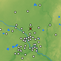 Nearby Forecast Locations - Ham Lake - Map