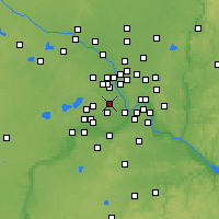 Nearby Forecast Locations - St. Louis Park - Map