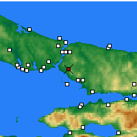 Nearby Forecast Locations - Ataşehir - Map