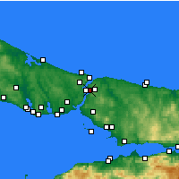 Nearby Forecast Locations - Beykoz - Map