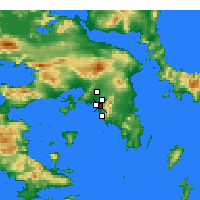 Nearby Forecast Locations - Agios Dimitrios - Map