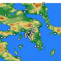 Nearby Forecast Locations - Irakleio - Map