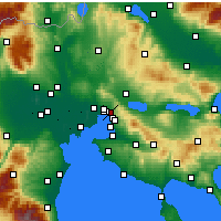 Nearby Forecast Locations - Sykies - Map