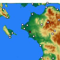 Nearby Forecast Locations - Amaliada - Map