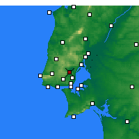Nearby Forecast Locations - Loures - Map