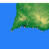 Nearby Forecast Locations - Portimão - Map
