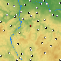 Nearby Forecast Locations - Benešov - Map