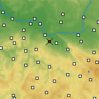 Nearby Forecast Locations - Kutná Hora - Map