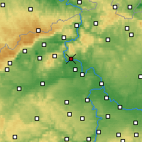 Nearby Forecast Locations - Litoměřice - Map