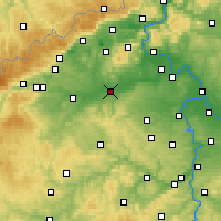 Nearby Forecast Locations - Louny - Map