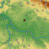 Nearby Forecast Locations - Mladá Boleslav - Map