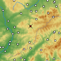 Nearby Forecast Locations - Vsetín - Map